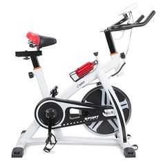 a4125501ce6 Akonza Pro Exercise Bike Indoor Cycling Bicycle Heart Pulse Trainer Gym  w Water Bottle Holder