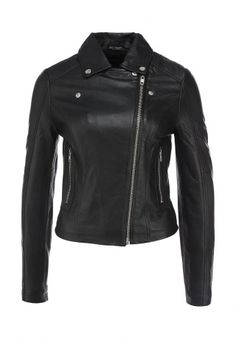 Куртка кожаная LOST INK, цвет: черный. Артикул: LO019EWEXX61