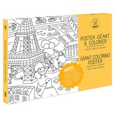 Colouring Poster Paris by OMY Design & Play | Wild and Whimsical Things www.wildandwhimsicalthings.com.au