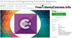 [#Udemy 100% Off] C# in 3 Hours: C# #Programming Tutorial for Beginners   About This Course  Published 9/2016English  Course Description  LEARNC#IN3 Hours  BRAND NEW COURSE!  BESTC#BEGINNERSCOURSEONUDEMY!  This course will not waste your time Are you tired of watching tutorials that take hours to explain simple concepts? You came to right place. All this course asks you is 2-3 hours of your life.  C#is an easy to learn powerful programming language. It has efficient high-level data…
