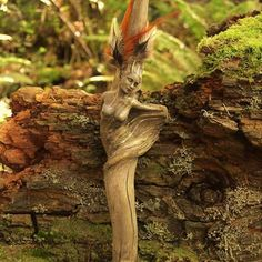 Feminine Figures Driftwood Sculptures by Debra Bernier.|CutPasteStudio| Illustrations, Entertainment, beautiful,creativity, Art,Artist,Artwork,nature,Sculptures, Driftwood.
