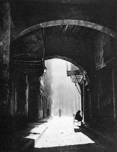 Calle de les Caputxes. Barcelona 1945