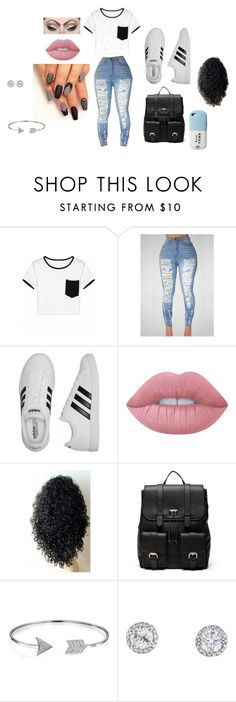 """back to school pt. 3"" by bearteddyblitz on Polyvore featuring adidas, Lime Crime, Mehron, Sole Society, Bling Jewelry and Valfré"