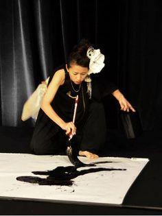 Shodo : Aoi Yamaguchi. Live japanese calligraphy performance