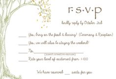 These RSVP cards are pretty, and the design made me think of you... and in unrelated news, this page is also pretty hilarious.