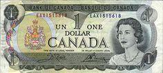 Canada 1954 One Dollar 5 Consecutive Uncirculated notes - Lawson Bouey One Dollar, Dollar Coin, Ottawa, Canadian Dollar, Money Bill, Legal Tender, Canadian History, Exchange Rate, Canada