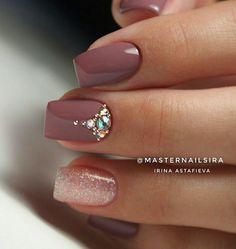 The Best Wedding Nails 2020 Trends Fancy Nails, Trendy Nails, Pink Nails, Cute Nails, Swarovski Nails, Rhinestone Nails, Bridal Nails, Wedding Nails, Perfect Nails