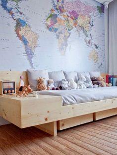 Boys Bedroom Decor | World Map Wall Art | Bedroom ideas | Boys Bedroom Ideas