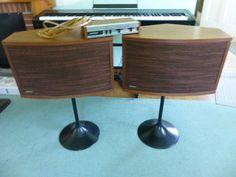 Vintage 1970s Bose 901 Series III Pedestal Speakers w/ Equalizer Walnut #Bose