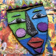 This week, 5th grade will start their Kimmy Cantrell inspired cardboard relief mask! I was inspired by the Plastiquem blog and the...