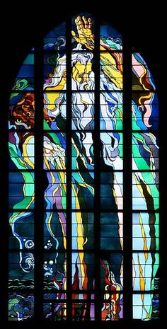 God The Creator, stained glass, St. Francis of Assisi's Church, Krakow, 1905