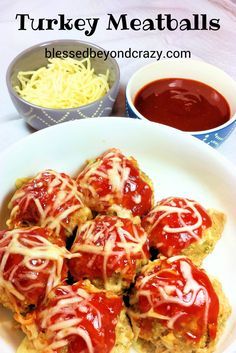 BBQ Turkey Meatballs For A Crowd (GF) - this recipe is fabulous to serve at parties but can easily be cut in half for a regular family meal. They also freeze well so you can take what you need out of the freezer, let them thaw and bake them whenever you need a quick meal. #blessedbeyondcrazy #meatballs