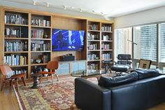 Contemporary, eclectic living room design with built in shelving. From 1 of 5 projects by Inspired Interiors, discovered on search.porch.com