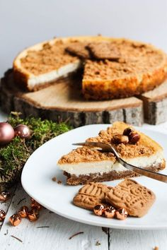 The Best Speculoos Cheesecake - Alexkitchenlove - Glutenfreie Kekse - Chicken Recipes A Food, Food And Drink, Evening Meals, Food Cakes, Keto Dinner, Puddings, Keto Recipes, Cheesecake Recipes, Cheesecake Cookies