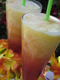 Food Fashion and Flow: Tropical Mango Freeze Party Drinks, Cocktail Drinks, Fun Drinks, Refreshing Drinks, Summer Drinks, Smoothie Drinks, Smoothies, Frozen Drinks, Non Alcoholic Drinks