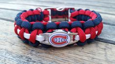 Montreal Canadiens Paracord bracelet, proudly handmade by US Veterans. Montreal Canadiens Paracord keychains also available. Meet the Veterans who make our products. Montreal Canadiens, Hockey Bedroom, Hockey Teams, Paracord Bracelets, Best Player, Handmade Bracelets, Nhl, Oakley, Claire