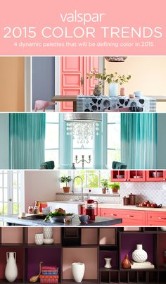 2015 Color Trends, Wall Colors, Paint Colors, Paint Color Schemes, Interior Design Tips, Home Living, Home Hacks, My Room, Colorful Interiors