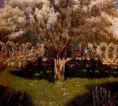 Paintings of Spring: Santiago Rusiñol februarie 1861 – 13 iunie pictor și scriitor catalan Pablo Picasso Cubism, Great Works Of Art, Spanish Painters, Amazing Paintings, Garden Painting, Post Impressionism, Traditional Paintings, Modern Artists, Western Art