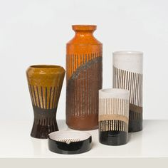 Aldo Londi; Glazed Ceramic Vessels for Bitossi Raymor, 1950s.
