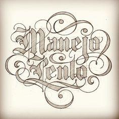 Manejo Lento. For my friend @razauno #lettering #blackletter #driveslow