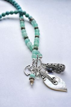 Peace and Harmony  Calming Green Beaded Silver by ParisHoliday, $17.50