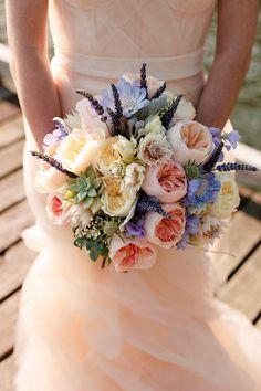 peach and purple bouquet, Photography by allisonsuterphotography.com, Floral Design by miwonchristiaanse.com