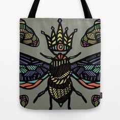 Queen Bee Tote Bag by schillustration
