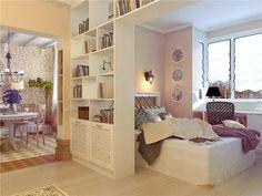 дизайн совмещенной гостинной и спальни - Поиск в Google