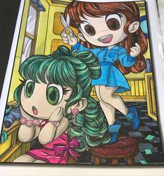 "@hobbyb_nl on Instagram: ""#jadesummer #chibigirlscoloringbook #grayscalecoloring #ohuhumarkers glitter marker from #actionnederland #decotimecrafts #poscapens…"" Ohuhu Markers, Coloring Books, Chibi, Glitter, Deco, Anime, Crafts, Instagram, Art"