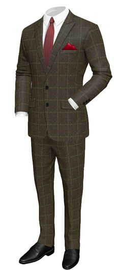 Green checked tweed Suit http://www.tailor4less.com/en/men/suits/2306-green-checked-tweed-suit