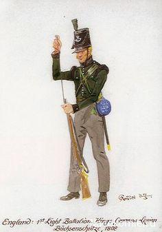 England 1st Light Bataillon Kings common Légion Bucherschitze 1808