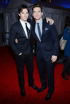 OMG. Ian Somherhalder Meets Up With Matt Bomer at the PCAs, That's Christian Grey Squared. I'm in love.