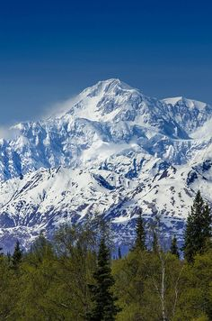Mt Mckinley Alaska. Headed here in July 2014. Maybe I'll get to see the mountain this time around!