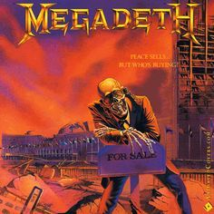 Megadeth - Peace Sells... But Whos Buying? (animated cover GIF) #megadeth #davemustaine #thrashmetal #truemetal #heavymetal #metal #metalheads #metalhead #peacesells #animatedcovers #gifs