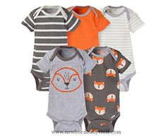 Baby Boy Clothes Gerber Baby Boys 5 Pack Onesies (3-6 Months, Fox)