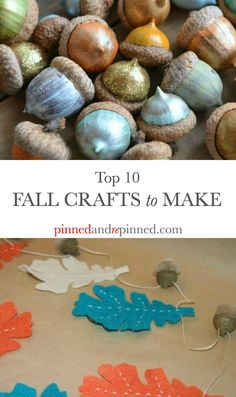 Top 10 Fall Crafts to Make that are festive, fun and gorgeous. via…