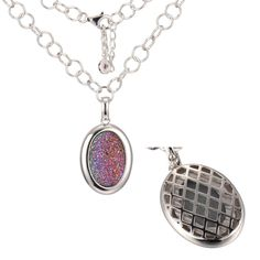 22 in. + 2 in. Sparkling Rose Drusy Pendant – ELLE Time & Jewelry