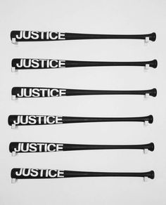 """lafilleblanc: """" Sebastian Errazuriz Justice, 2013 Acrylic and oil paint over wooden baseball bats. Justice Department, of women polled admitted having experienced domestic violence. There are approximately 1 million. Anders Dragon Age, Hawke Dragon Age, Mafia, Jane The Virgin, Stiles, Xmen, John Rambo, Sayaka Miki, W Two Worlds"""
