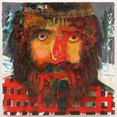 Nicole Eisenman  Mountain Man  2006  Oil on canvas  10 x 10 in (25.4 x 25.4 cm)