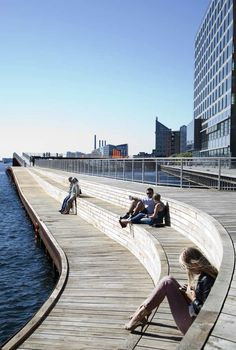 Buildings a little too close to the waterfront, but this bench/pier gets points for liveability support.  Pernille-Enoch-08 « Landscape Architecture Works | Landezine