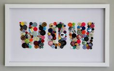 Wow framed button art