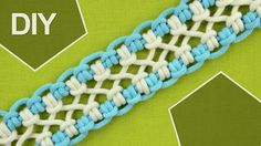 DIY. crossed sennit, chainlet - SIX strands