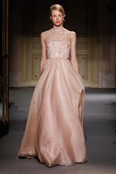 Georges Hobeika HC S'13. Love this dress. The cut and colour = Perfect