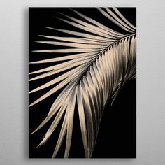 Palm Leaf Dream 1 by Anita's & Bella's Art Diy Canvas Art, Diy Wall Art, Metal Flower Wall Art, Gold Leaf Art, Painted Leaves, Tropical Art, Diy Painting, Wall Art Prints, Projects