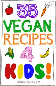 Healthy Meals For Kids 35 Vegan Recipes for Kids! Breakfast, lunch, afternoon snack, and dinner. Lots of easy kid-friendly vegan recipes that your child will love! Vegan Recipes Videos, Vegan Dinner Recipes, Vegan Dinners, Vegan Recipes Easy, Lunch Recipes, Vegetarian Meals For Kids, Vegetarian Food, Drink Recipes, Vegan Food