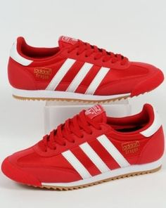 1e5d64ebb9bf0 adidas Trainers Adidas Dragon Trainers Red White