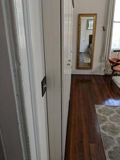 ClosetBoom20 Gown Microcloset – ClosetBoom Wardrobe Furniture, Wardrobe Design Bedroom, Dark Wood Stain, Grey Wood, Furniture Grade Plywood, Wood Furniture, Curtains For Closet Doors, Hidden Spaces, Wardrobe Storage