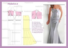 Formal Draped Evening gown
