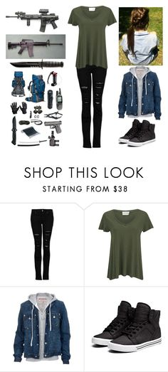 """""""Me in a zombie apocalypse."""" by bubble-loves-you ❤ liked on Polyvore featuring MANGO, American Vintage, True Religion and Supra"""
