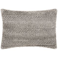 "Joseph Abboud Gray 20""x14"" Rectangular Throw Pillow - Style # 9N161"